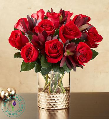Crimson Rose Bouquet