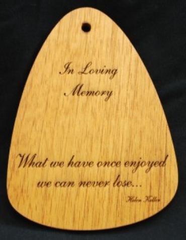 Z WHAT WE HAVE WIND CHIME PLAQUE