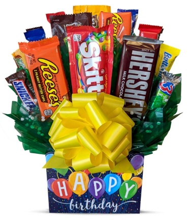 C-119 Happy Birthday Candy Bouquet