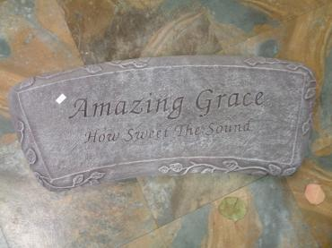 Amazing Grace Cement Bench - Old Grey