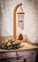 MEDIUM WIND CHIME & STAND SYMPATHY WIND CHIME