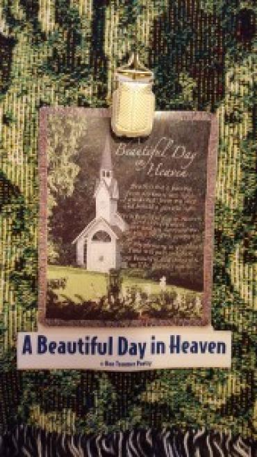 A BEAUTIFUL DAY IN HEAVEN SYMPATHY TAPESTRY ON STAND