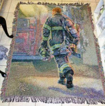 OUR VALIANT FIRE FIGHTER SYMPATHY TAPESTRY