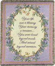 Loved Beyond Words Funeral Tapestry
