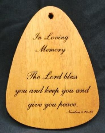 Z THE LORD BLESS YOU WIND CHIME PLAQUE