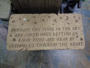 Perhaps The Stars Sympathy Bench