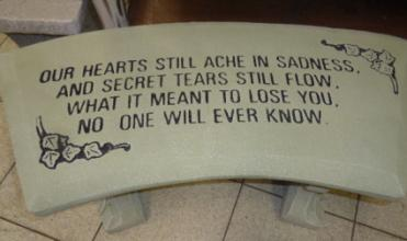 SECRET TEARS CEMENT GARDEN BENCH