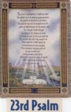 23RD PSALM TAPESTRY ON STAND